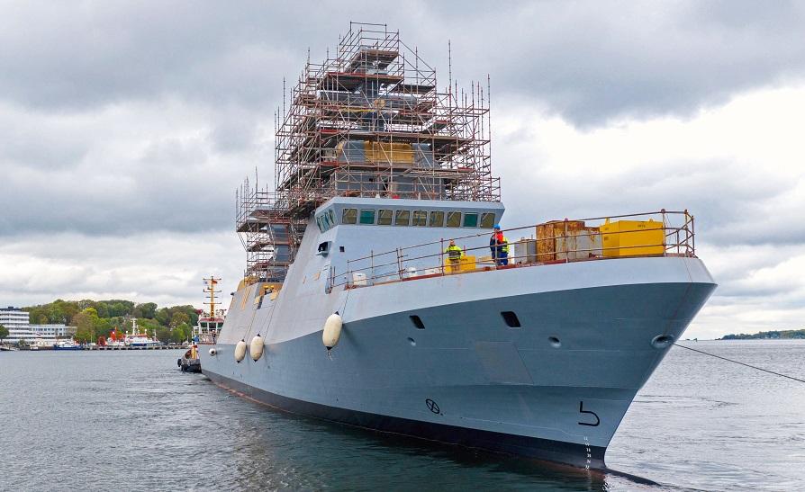 Uno de los Sa'ar 6 israelíes construidos en Alemania por el astillero ThyssenKrupp Marine Systems