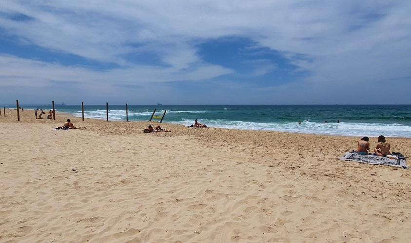 Israelíes en la playa