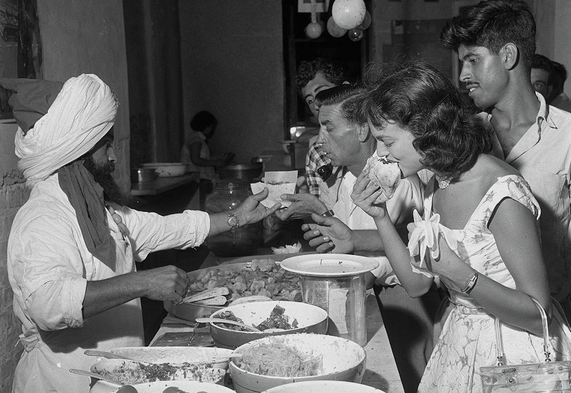 El Rey del Falafel de Tel Aviv, en 1958