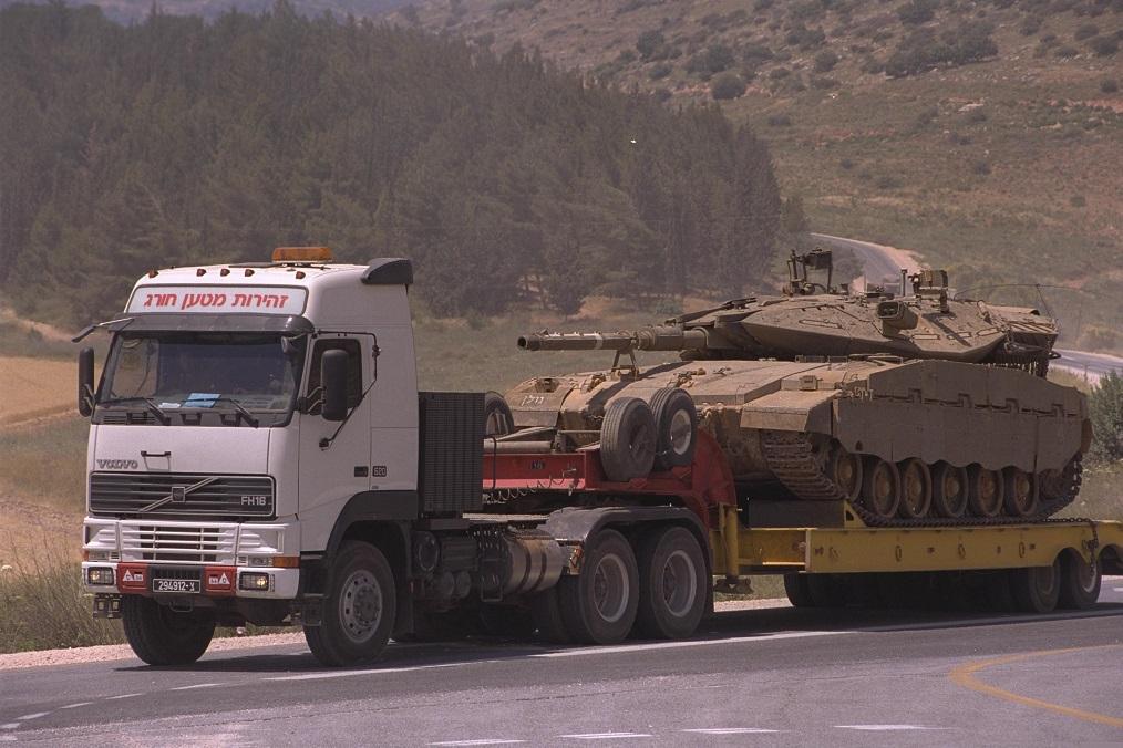 Transportando un Merkava de regreso a su base