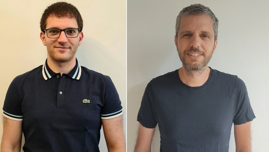 El profesor Shlomi, a la derecha, y el estudiante de doctorado Lagziel, del Technion