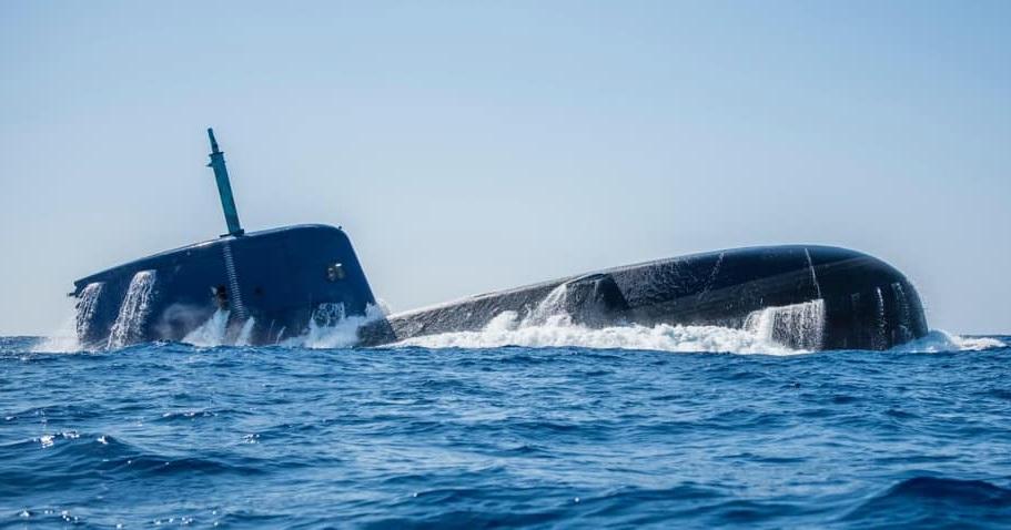 Uno de los submarinos Clase Dolphin de la Marina de Israel