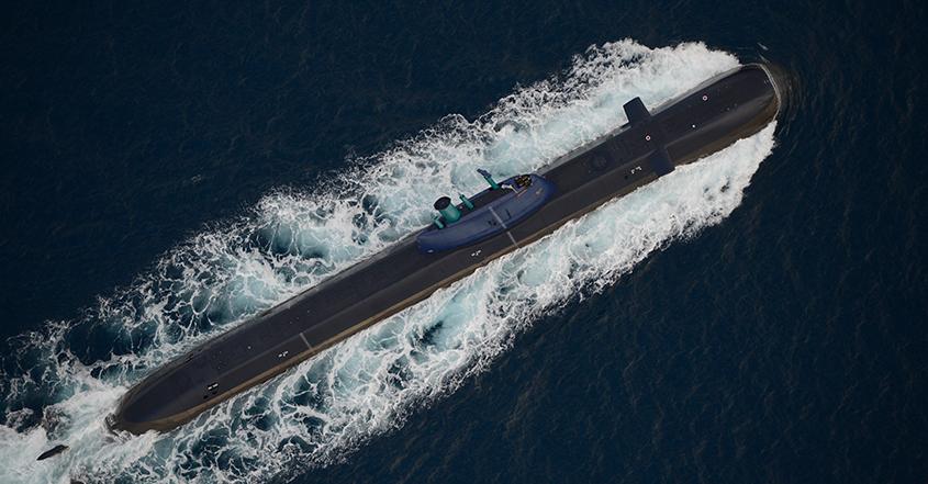 Uno de los submarinos Dolphin de la Marina de Israel
