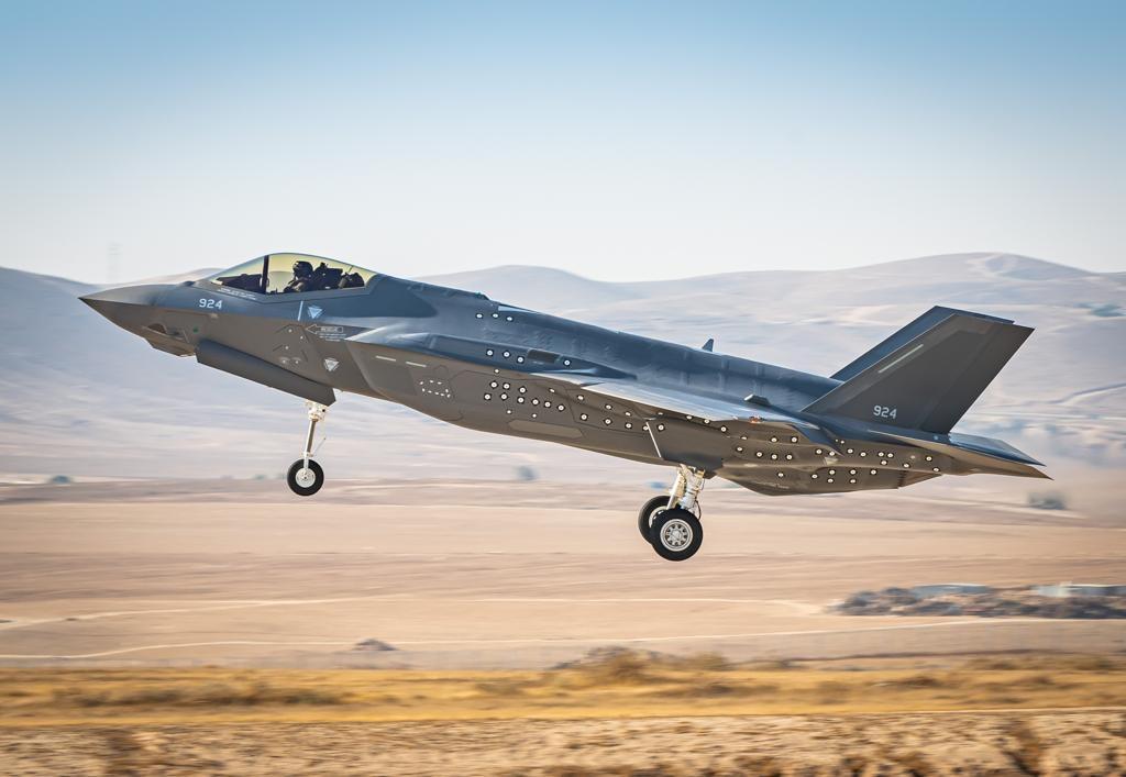 Un F-35 Adir de la Fuerza Aérea de Israel