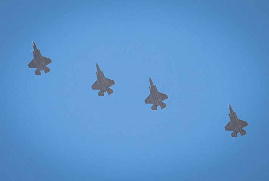 Un escuadrón de F-35I Adir de la Fuerza Aérea de Israel