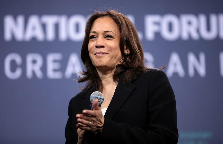 La senadora Kamala Harris, candidata demócrata a la vicepresidencia de Estados Unidos