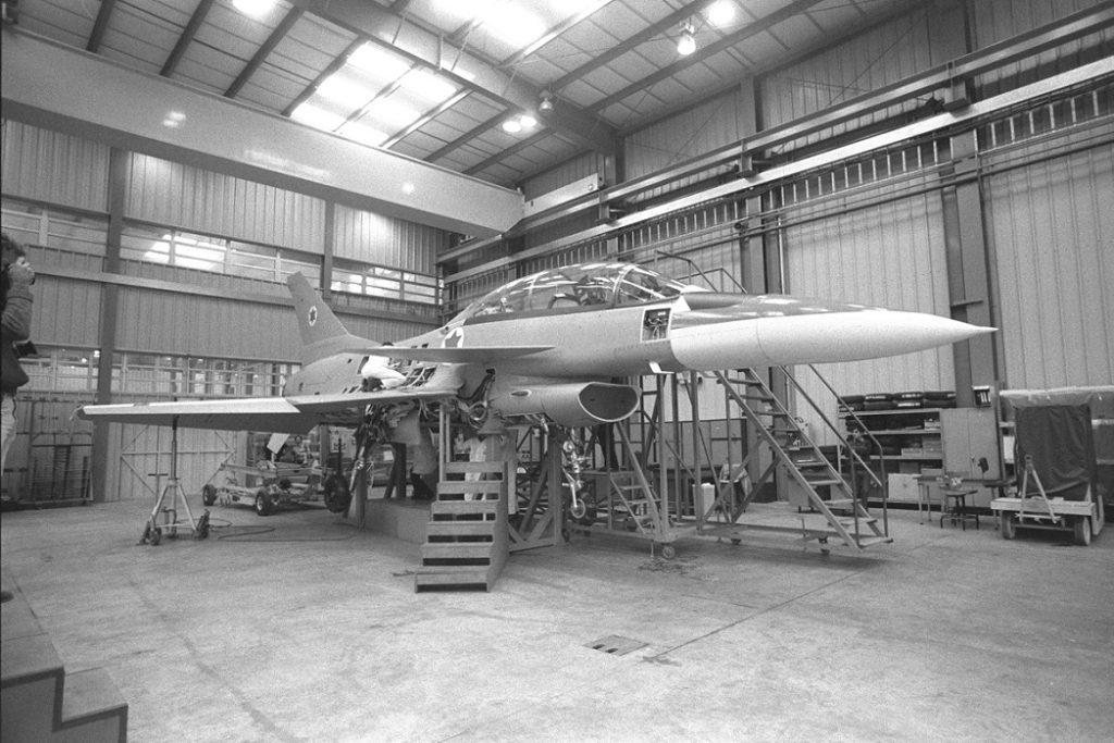 Uno de los prototipos, en un taller de IAI