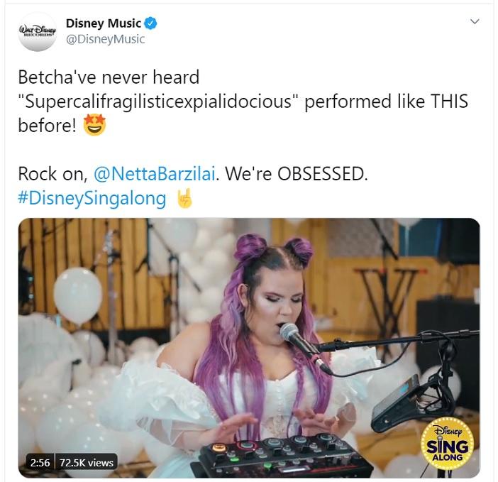 Netta y Disney Music en Twitter