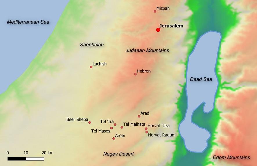 Mapa del Reino de Judá
