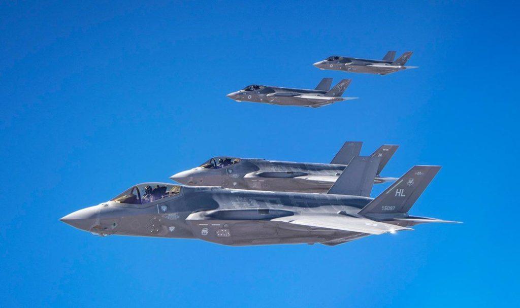 Aviones de Israel y de Estados Unidos