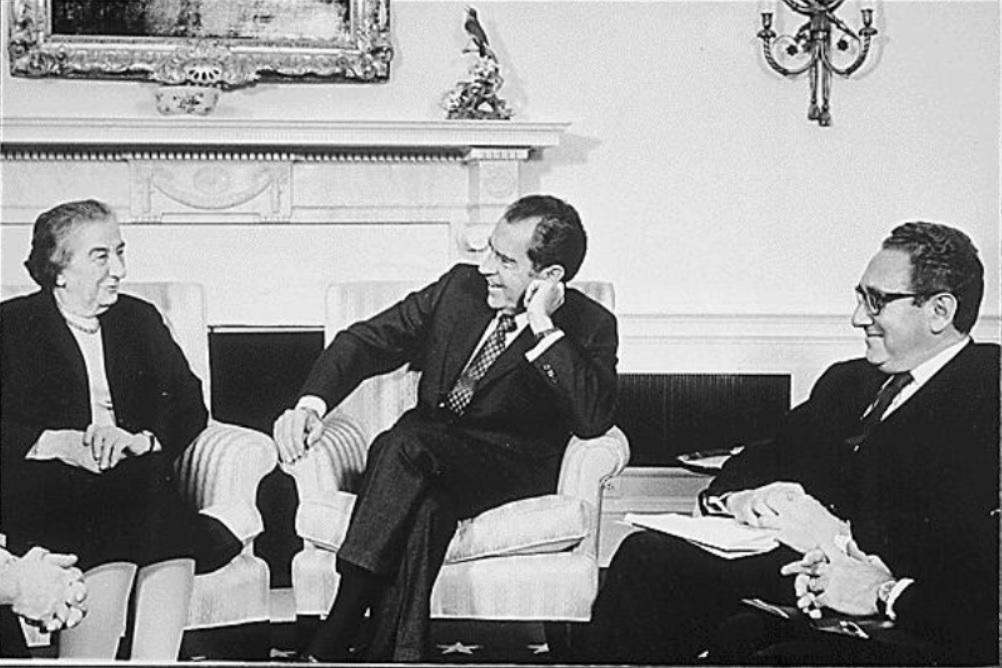 Golda Meir y Richard Nixon